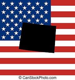 unidas, wyoming, -, ilustração, estados, estado, américa