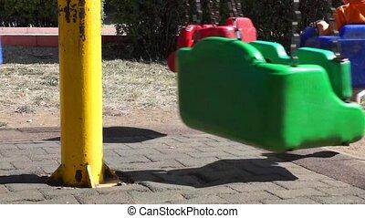Unidentified kids on carousel