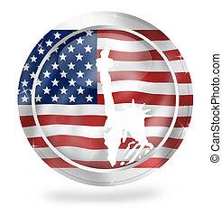 unido, coloreado, nacional, creativo, estados, américa