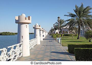 unido, corniche, árabe, emiratos, abu dhabi