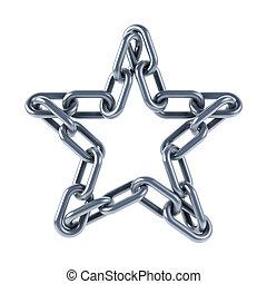 unido, estrella, enlaces, cadena