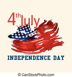 unido, flag., u..s.., states., tarjeta de felicitación, día...