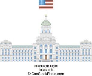 unido, indianapolis, casa, estados, estado, indiana, américa