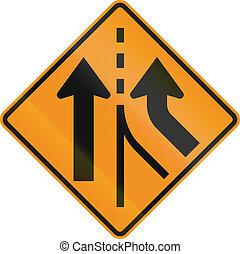 unido, -, mutcd, señal, estados, combinar, intersección, camino