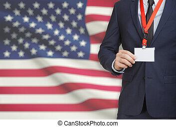 unido, nombre, nacional, -, estados, bandera, tarjeta, plano...