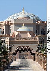 unido, palacio, árabe, emiratos, abu dhabi