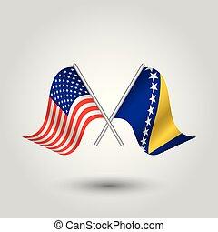 unido, palos, bosna, bosnio, símbolo, herzegovina, -, dos, ...