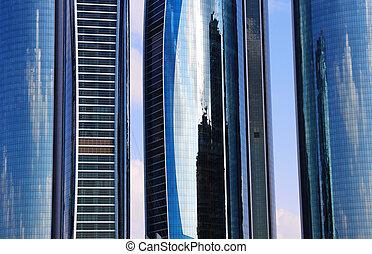 unido, rascacielos, árabe, emiratos, abu dhabi