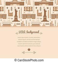 unido, señales, estados, vector, plano de fondo, américa