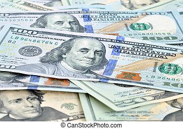 unido, (usd), dinero, dólares, -, estados, cuentas