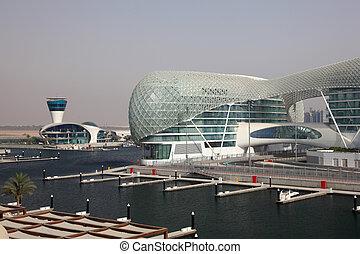unido, yas, árabe, puerto deportivo, emiratos, abu dhabi