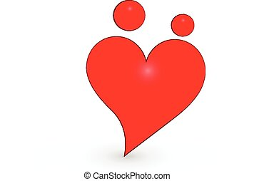 unie, hart, gezin, logo