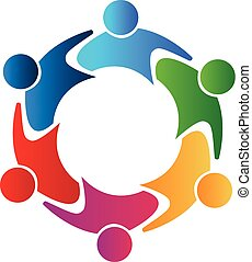 unie, logo, teamwork