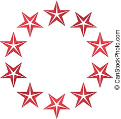 unie, ouderwetse , heraldisch, embleem, symbool., pentagonal, thema, vector, sterretjes, jas, logo., armen