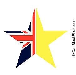 unie, symbool, afslaf, uk, europeaan