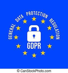 unie, -, symbool., algemeen, regeling, bescherming, gdpr, data, europeaan