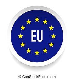 unie, symbool, -, eu, logo, europeaan