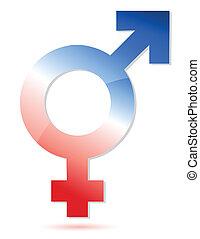 unie, symbool, mannelijke , vrouwlijk
