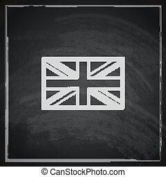 unie, textuur, brits verslappen, illustratie, dommekracht, chalkboard