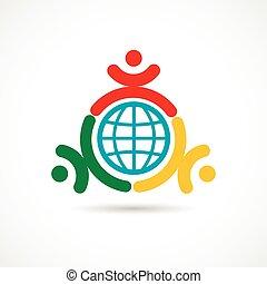 unie, wereld, symbool