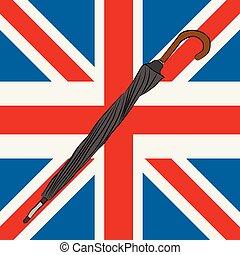 unie, zwarte paraplu, dommekracht, afsluiten