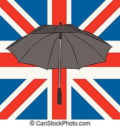 unie, zwarte paraplu, dommekracht
