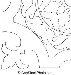 uniek, kleurend boek, plein, pagina, voor, volwassenen, -, model, tegel, ontwerp, vreugde, om te, ouder, kinderen, en, volwassene, colorists, wie, zoals, lijnen kunst, en, creation., zwart wit, vector, illustratie