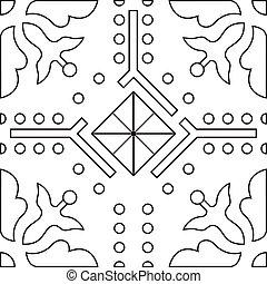 uniek, kleurend boek, plein, pagina, voor, volwassenen, -, seamless, model, tegel, ontwerp, vreugde, om te, ouder, kinderen, en, volwassene, colorists, wie, zoals, lijnen kunst, en, creatie, vector, illustratie