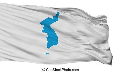 Unification Korea Flag Isolated Seamless Loop - Unification...