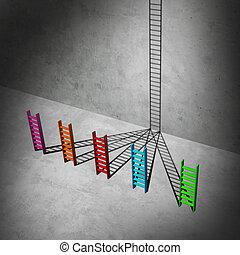 Unification Success - Unification success business concept...