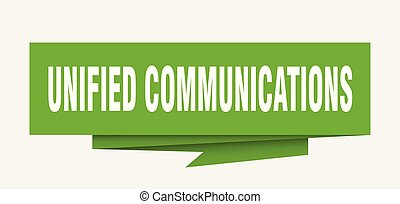 unified communications sign. unified communications paper...