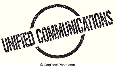 unified communications stamp - unified communications black...