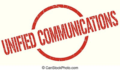 unified communications stamp - unified communications red...
