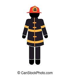 uniform fire equipement service emergency