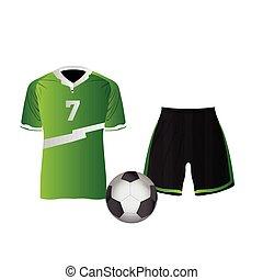uniform, freigestellt, fußball