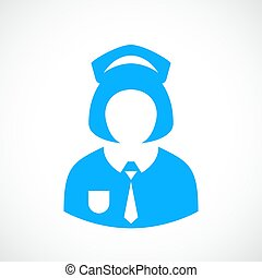 uniforme escola, menina, ícone