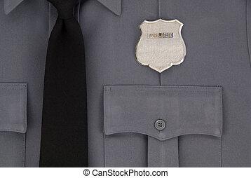 uniforme policía, insignia
