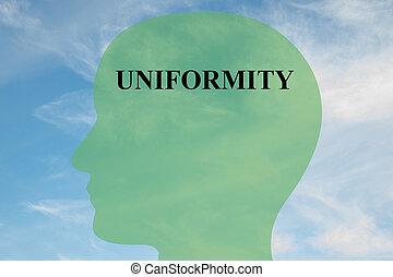 Uniformity mentality concept - Render illustration of ...