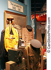 Uniforms on display at the Greenwood Aviation Military Museum, Nova Scotia, Canada