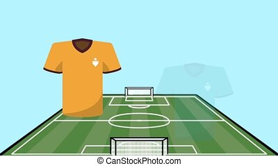 uniforms soccer match versus teams animation