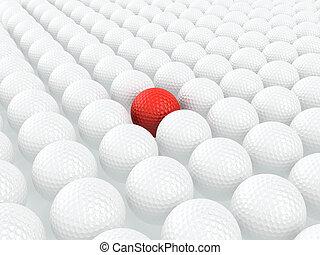 unikalny, golfowa piłka