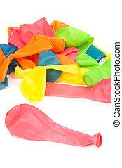 uninflated, balões, pilha