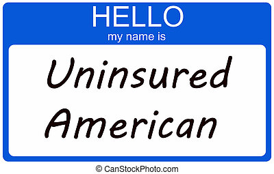 uninsured, amerikaan, hallo