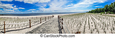 Union Beach Panorama - A panoramic view of Union Beach in...