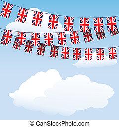 union, bruant, drapeaux, cric
