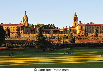 Union Buildings, Pretoria at Sunset - South African Union...