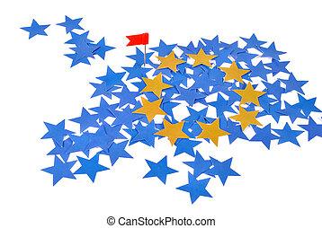 union, carte, étoiles, européen