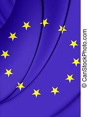 union, drapeau européen