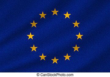union, drapeau national, européen