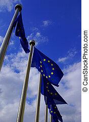 union, drapeaux, européen